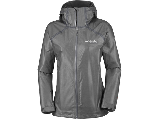 Columbia OutDry Ex Reign Chaqueta Mujer, charcoal heather